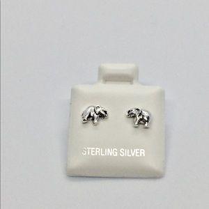 🆕 925 Sterling Silver Elephant Earrings